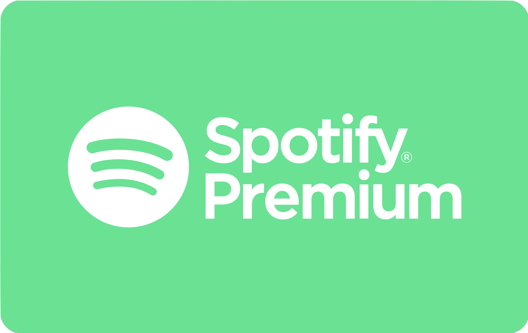 Spotify Premium 12 Month Gift Card