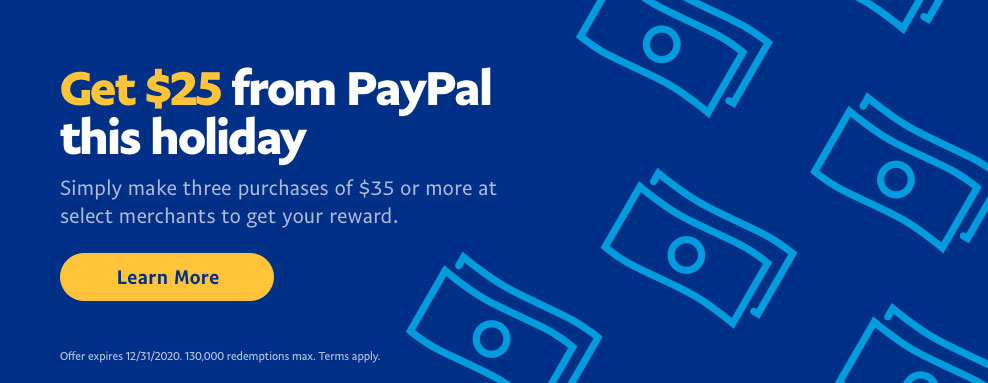 from PayPal (existing and new users)