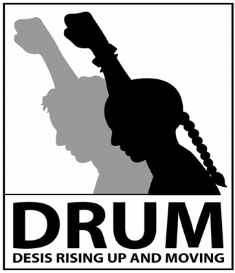 Logo of charity DRUM - Desis Rising Up and Moving, Inc.