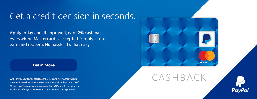 Get a credit decision in seconds and earn 2% cash back on everything you buy. Learn More.