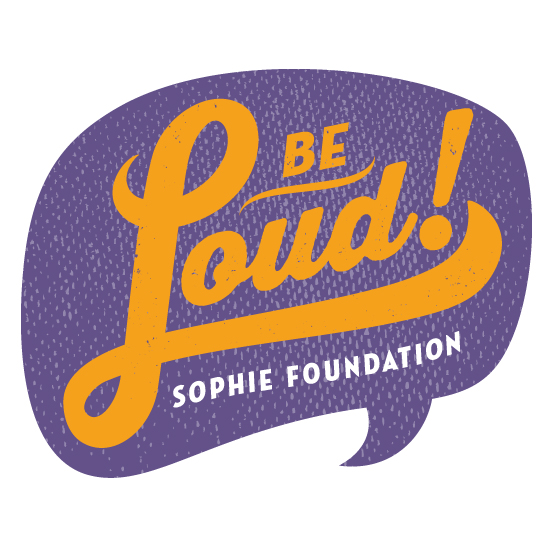 Logo of charity Be Loud Sophie Foundation